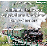 Steam Maps: Alabama Railways, Antebellum Louisiana, Four Corners