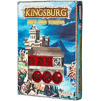 Kingsburg: Dice & Tokens set Red