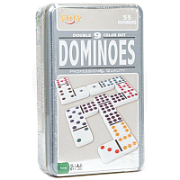 Dominoes - Double 9 Color Dot