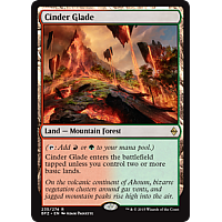 Cinder Glade ( Foil ) (Battle for Zendikar Prerelease)