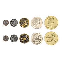 Metal Coins: Ancient Egyptian theme
