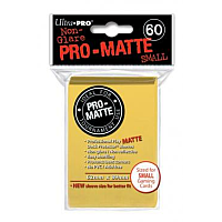 60ct Pro-Matte Yellow Small Deck Protectors