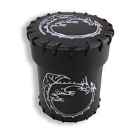 Q-Workshop Leather Dice Cup (Black Dragons)