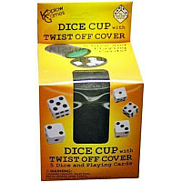 Koplow Dice Cup Twist Off Cover (with Dice and Cards)