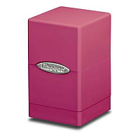 Bright Pink Satin Tower Deck Box