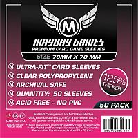 Mayday Premium Card Games Sleeves - Square Card Sleeves - Small (70x70mm)