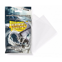 Dragon Shield Standard Perfect Fit Sleeves - Clear (100 Sleevees)