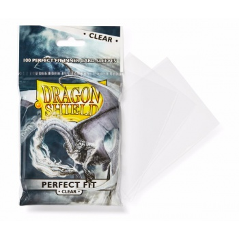 Dragon Shield Standard Perfect Fit Sleeves - Clear (100 Sleevees)_boxshot