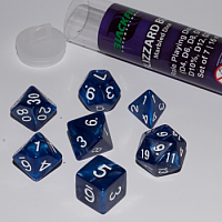 Blackfire Dice - 16mm Role Playing Dice Set - Blizzard Blue (7 Dice)