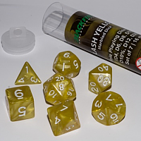 Blackfire Dice - 16mm Role Playing Dice Set - Flash Yellow (7 Dice)