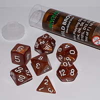 Blackfire Dice - 16mm Role Playing Dice Set - Wild Brown (7 Dice)