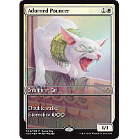 Adorned Pouncer  (Hour of Devastation Game Day) (Full-Art)