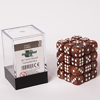 Blackfire Dice Cube – 12mm D6 36 Dice Set – Marbled Coffee