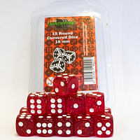 Blackfire Dice - 16mm D6 Dice Set - Glitter Red (15 Dice)