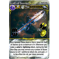 Mage Wars: Staff Of Storms Promo Card