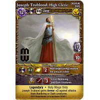 Mage Wars: Joseph Trublood, High Cleric Promo Card