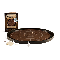 Crokinole TOURNAMENT – Walnut with Ebony ditch
