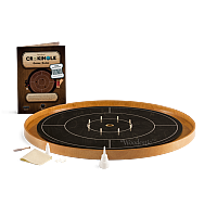 Crokinole TOURNAMENT – Ebony with steamed Beech ditch