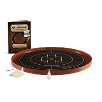 Crokinole TOURNAMENT – Ebony with Cherry ditch