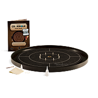 Crokinole TOURNAMENT – Ebony with Ebony ditch