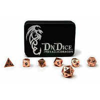 DnDice Solid Zink: Brilliant Copper Metallic Dragon