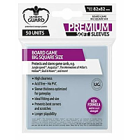 Ultimate Guard Premium Soft Sleeves for Board Game Cards Big Square (50)