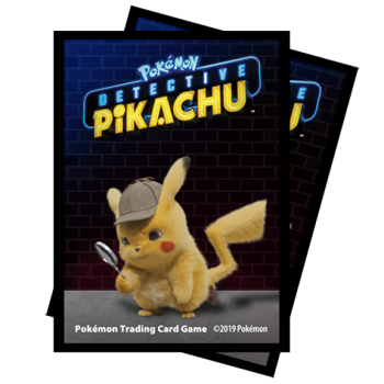 UP - Deck Protector Sleeves - Detective Pikachu - Pikachu (65 Sleeves)_boxshot