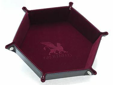 Dice Tray - Hexagon Series: Burgundy_boxshot