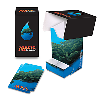 Mana 5 Island Full View Deck Box with Tray