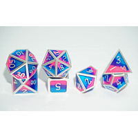 A Role Playing Dice Set: Metallic - Cotton Candy