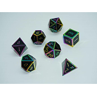 A Role Playing Dice Set: Metallic - Dark Rainbow
