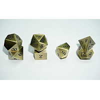 A Role Playing Dice Set: Metallic - Brushed Gold