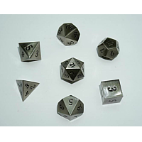 A Role Playing Dice Set: Metallic - Brushed Silver
