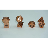 A Role Playing Dice Set: Metallic - Brushed Copper