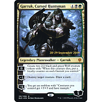 Garruk, Cursed Huntsman ( Foil ) (Throne of Eldraine Prerelease)
