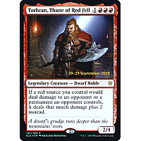 Torbran, Thane of Red Fell ( Foil ) (Throne of Eldraine Prerelease)