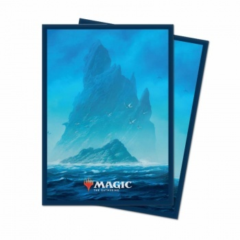 UP - Standard Deck Protector - Unstable Lands Island (100 Sleeves)_boxshot