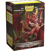 Dragon Shield Standard Matte Art Sleeves - Valentine 2020 Dragon (100 Sleeves)