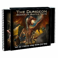 The Dungeon Books of Battle Mats - Modular Books of RPG Battle Maps