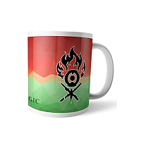 Magic the Gathering Mug Fractal Gruul