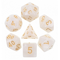 A Role Playing Dice Set: White Pearl