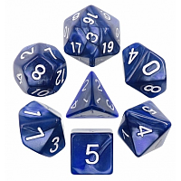 A Role Playing Dice Set: Blue Pearl