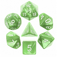 A Role Playing Dice Set: Pale Green Pearl