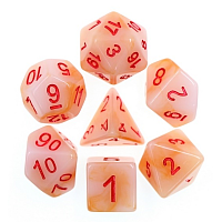 A Role Playing Dice Set: White Jade