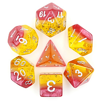 A Role Playing Dice Set: Passion Fruit