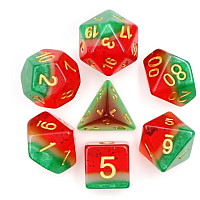A Role Playing Dice Set: Watermelon