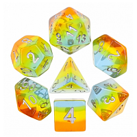 A Role Playing Dice Set: Yellow Aurora