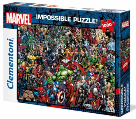 1000 pcs:  Marvel 80th Anniversary Impossible Puzzle Characters_boxshot