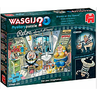 1000 Bitar - Wasgij Retro Mystery 3 Puzzle: Drama at the Opera