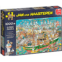 1000 Bitar - Jan Van Haasteren: Tall Ship Chaos